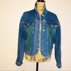 Vintage Jordache jean jacket with corduroy panels